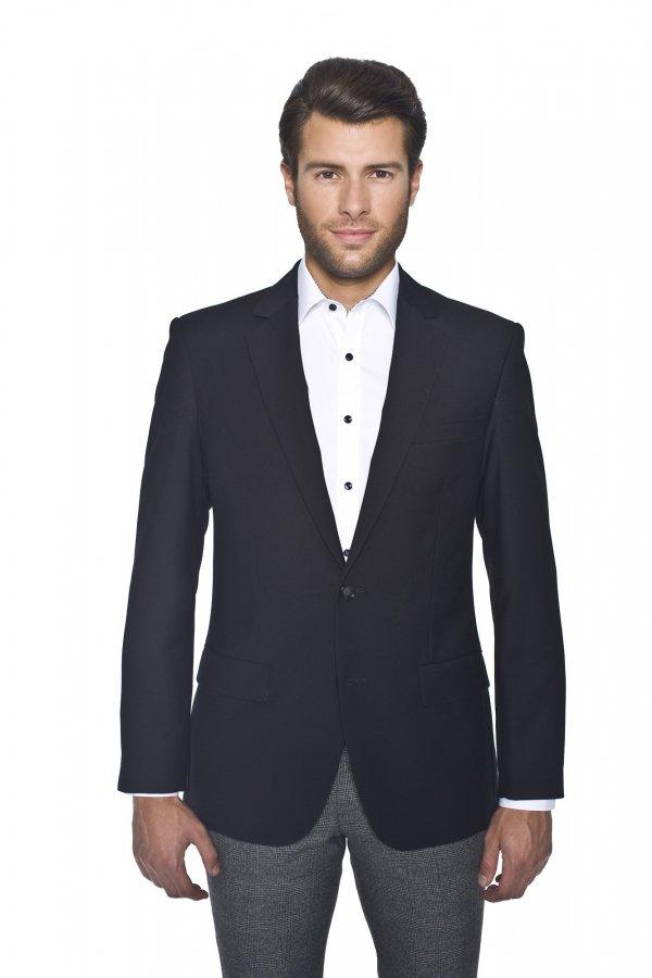 Jakie spodnie męskie do czarnej marynarki?